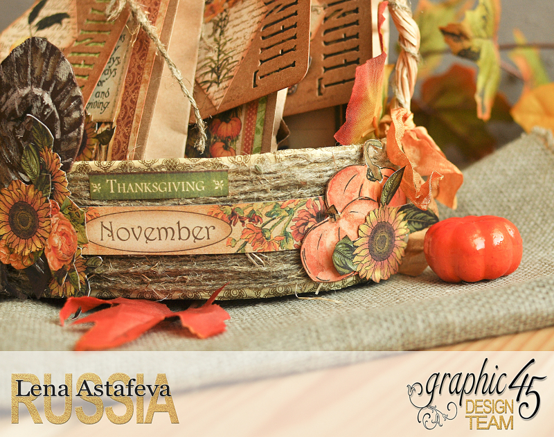 Thanksgiving decor-Botanicabella-Tutorial by Lena Astafeva-Product by Graphic 45-52