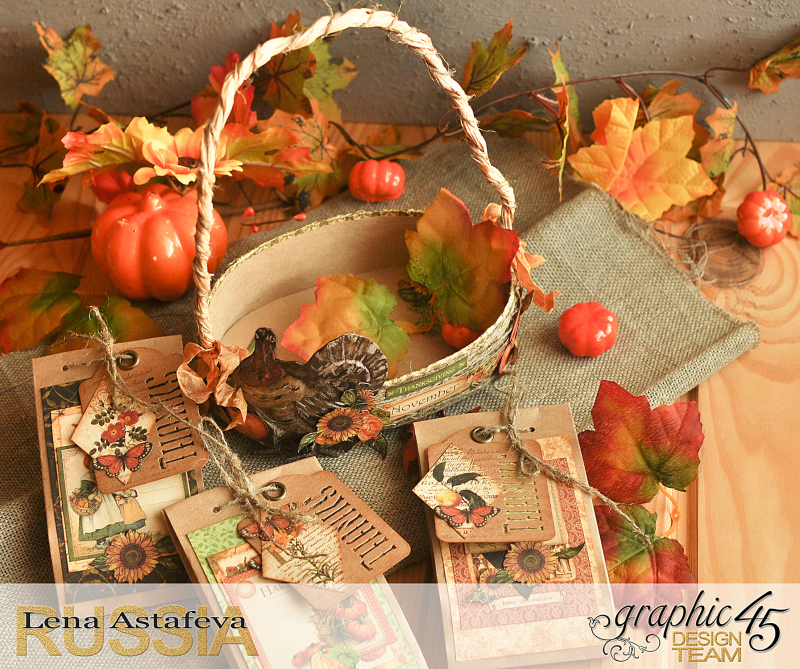 Thanksgiving decor-Botanicabella-Tutorial by Lena Astafeva-Product by Graphic 45-60