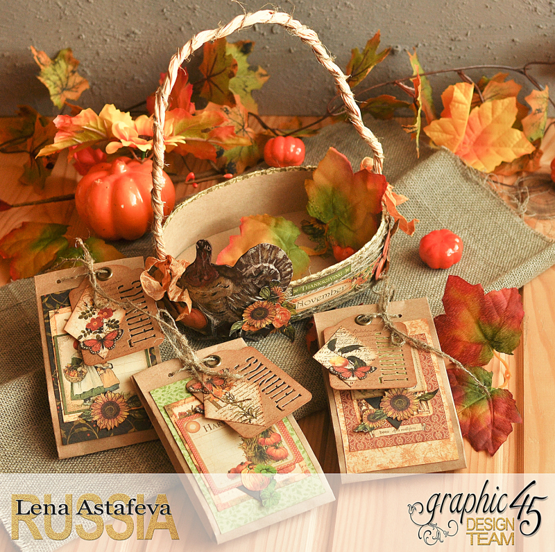 Thanksgiving decor-Botanicabella-Tutorial by Lena Astafeva-Product by Graphic 45-61