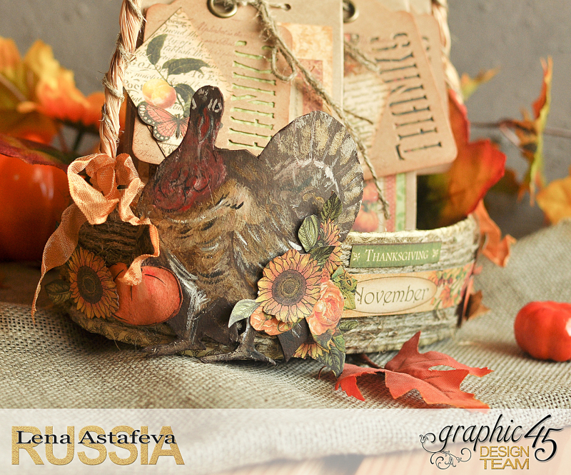 Thanksgiving decor-Botanicabella-Tutorial by Lena Astafeva-Product by Graphic 45-55