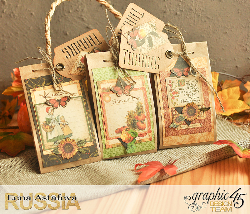 Thanksgiving decor-Botanicabella-Tutorial by Lena Astafeva-Product by Graphic 45-63
