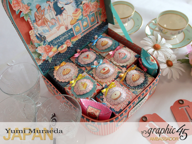 Thank you gift and Case Graphic45  Cafe Parisian  by Yumi Muraeada Product by Graphic 45 Photo4