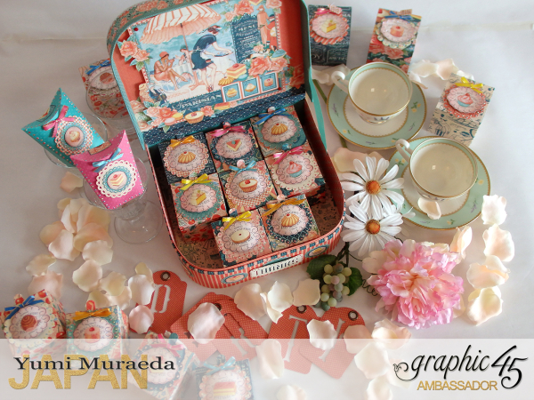 Thank you gift and Case Graphic45  Cafe Parisian  by Yumi Muraeada Product by Graphic 45 Photo7