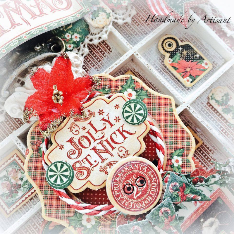 St.Nicholas shadow box tutorial for Graphic 45, by Aneta Matuszewska, photo 4