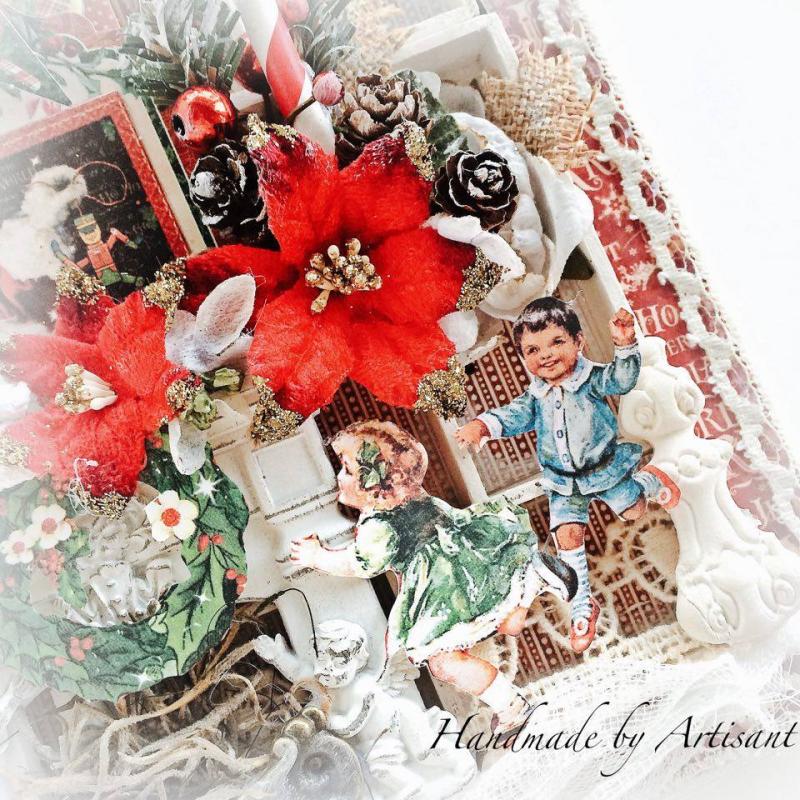 St.Nicholas shadow box tutorial for Graphic 45, by Aneta Matuszewska, photo 7
