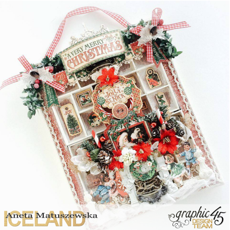 St.Nicholas shadow box tutorial for Graphic 45, by Aneta Matuszewska, photo 1