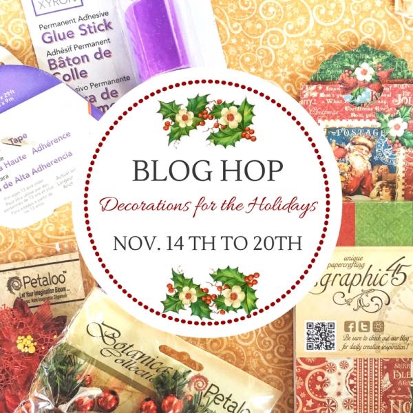 It's the Xyron, Petaloo, and Graphic 45 Blog Hop!