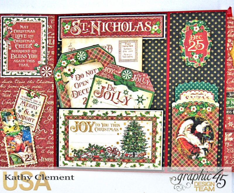 Very Merry Christmas Card Tutorial, Saint Nicholas, by Kathy Clement, Product by Graphic 45, Photo 12