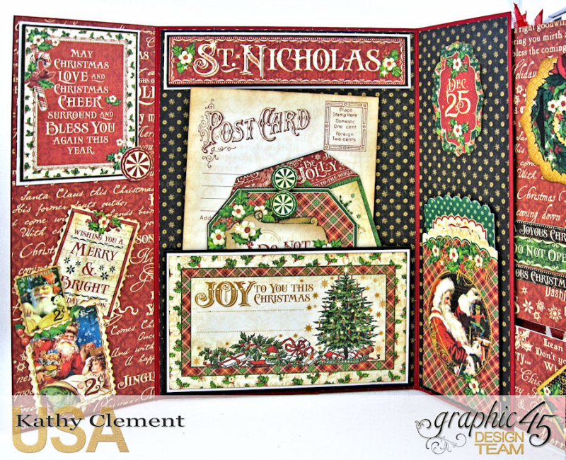 Very Merry Christmas Card Tutorial, Saint Nicholas, by Kathy Clement, Product by Graphic 45, Photo 14