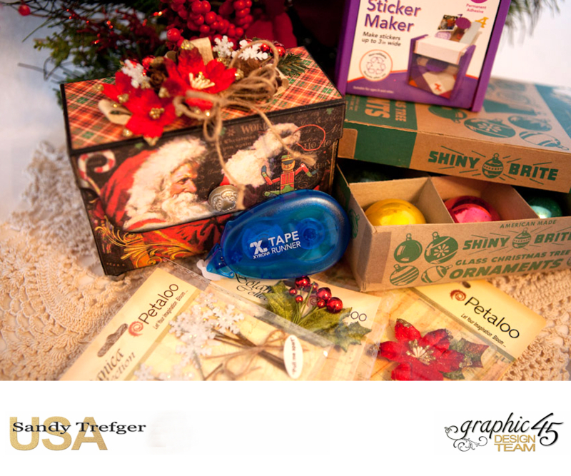 Mantle Tag Box, St Nicholas, By Sandy Trefger, Product by Graphic 45, Product by Xyron, Product by Petaloo, Product by My Creative Spirit, Photo 002
