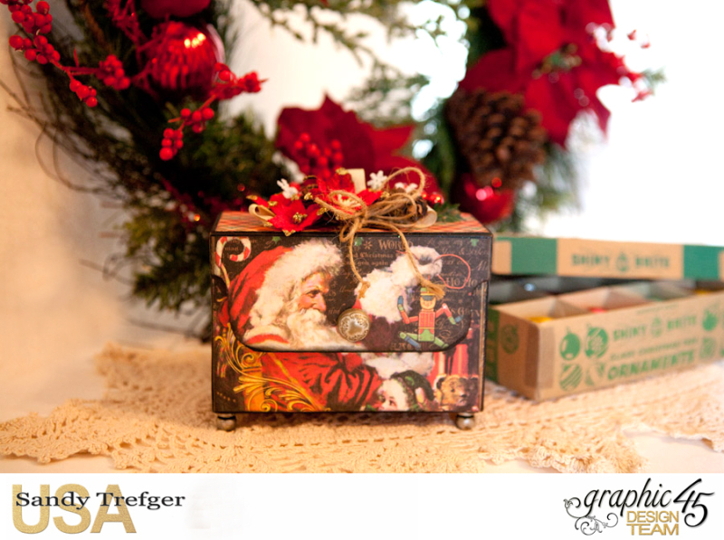 Mantle Tag Box, St Nicholas, By Sandy Trefger, Product by Graphic 45, Product by Xyron, Product by Petaloo, Product by My Creative Spirit, Photo 001