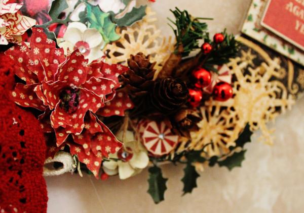 Graphic 45 St Nicholas Wreath by Pam Bray -Tutorial- Petaloo and Xyron - Photo 3_1910