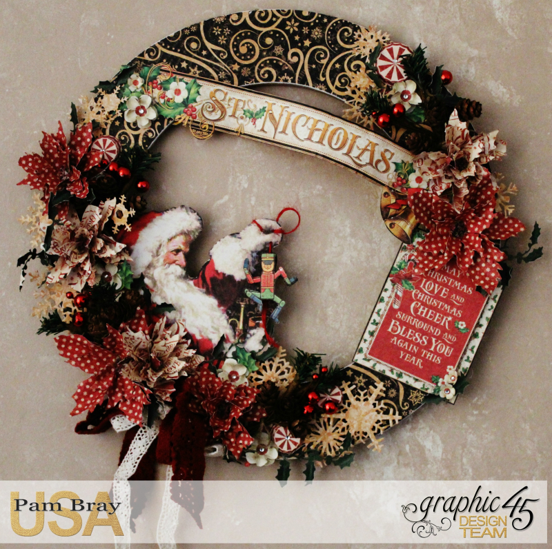 Graphic 45 St Nicholas Wreath by Pam Bray -Tutorial- Petaloo and Xyron - Photo 1_1911