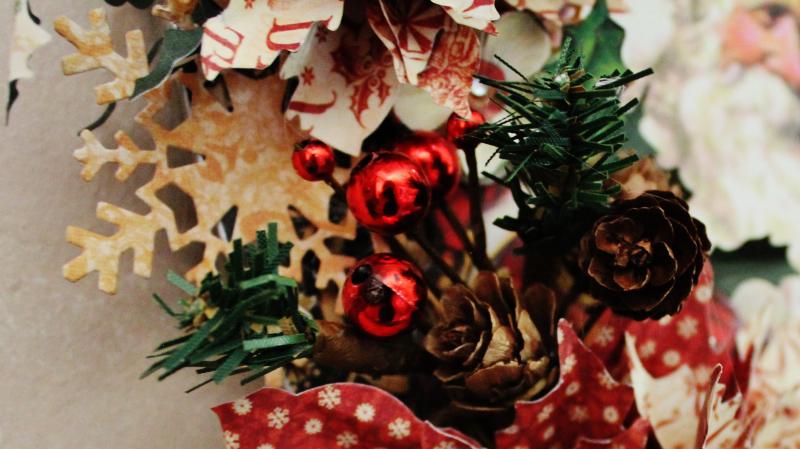 Graphic 45 St Nicholas Wreath by Pam Bray -Tutorial- Petaloo and Xyron - Photo 6_1896