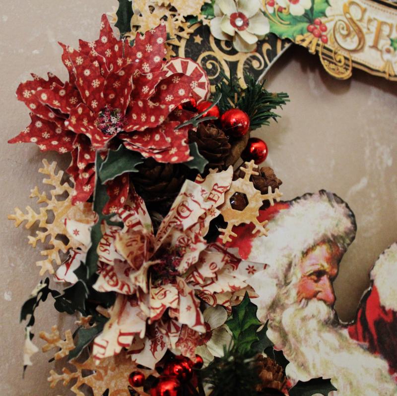 Graphic 45 St Nicholas Wreath by Pam Bray -Tutorial- Petaloo and Xyron - Photo 5_1895