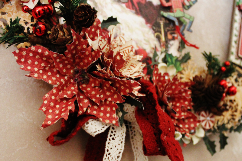 Graphic 45 St Nicholas Wreath by Pam Bray -Tutorial- Petaloo and Xyron - Photo 7_1898