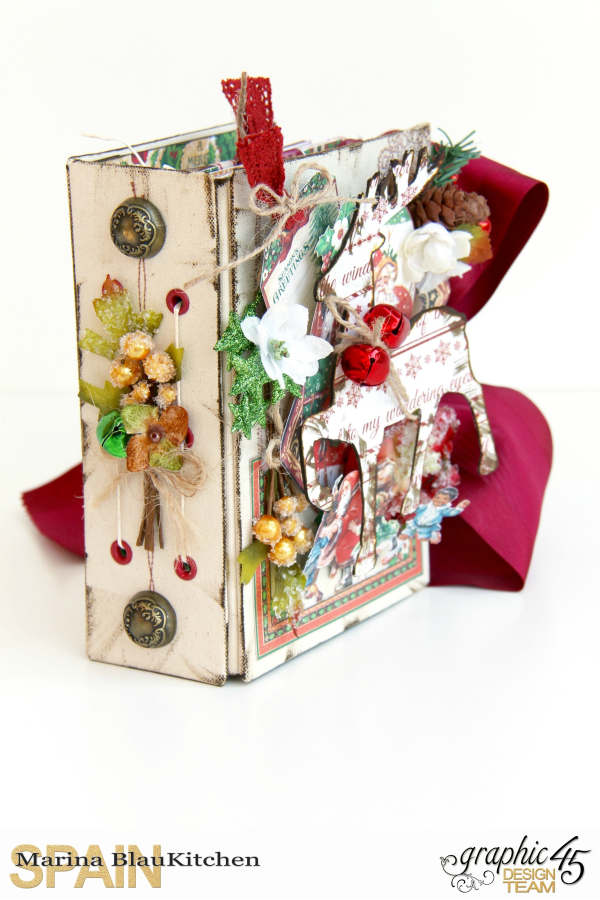December Daily Album St. Nicholas Petaloo and Xyron Blog Hop by Marina Blaukitchen Product by Graphic 45 photo 15