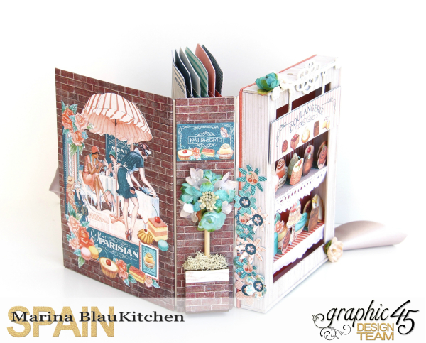 Shadow Box Album Café Parisian by Marina Blaukitchen Product by Graphic 45 photo 5