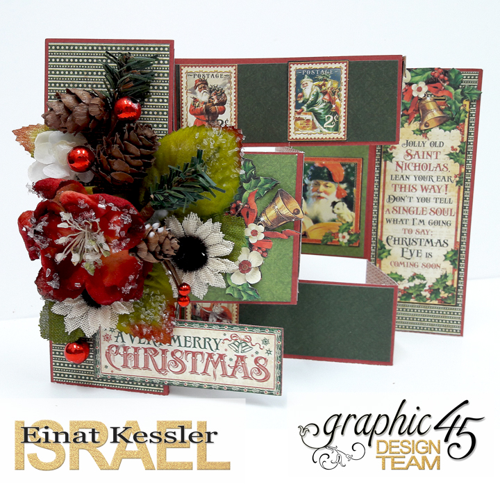 Merry Christmas Card, St Nicholas, by Einat Kessler, product by Graphic 45 photo 6