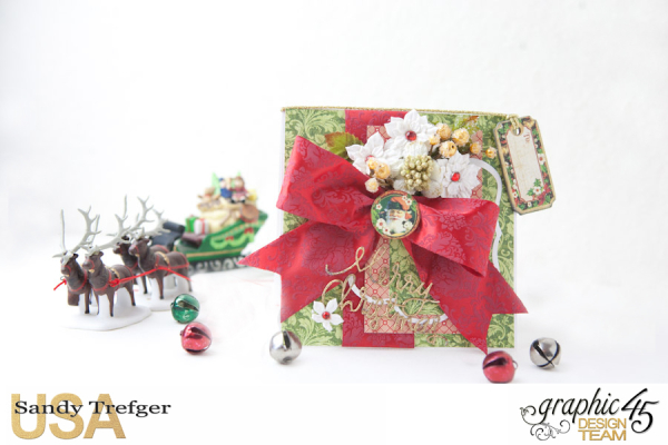 Christmas Card and Box Envelope, St Nicholas, Off  to the Races, Tutorial by Sandy Trefger, Product by Graphic 45, Photo 002