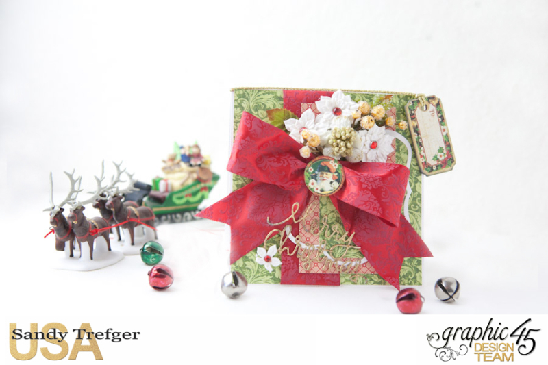 Christmas Card and Box Envelope, St Nicholas, Off  to the Races, Tutorial by Sandy Trefger, Product by Graphic 45, Photo 007