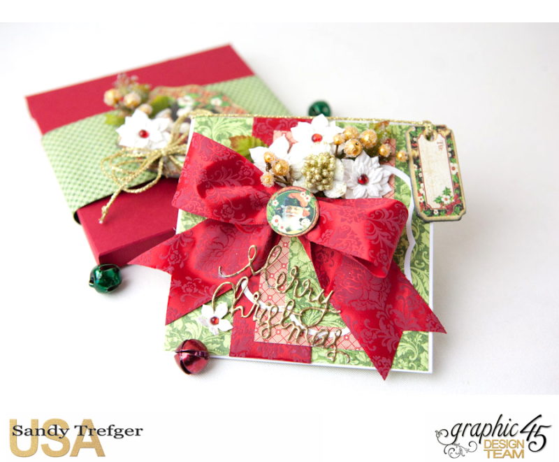 Christmas Card and Box Envelope, St Nicholas, Off  to the Races, Tutorial by Sandy Trefger, Product by Graphic 45, Photo 001