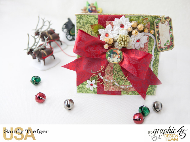 Christmas Card and Box Envelope, St Nicholas, Off  to the Races, Tutorial by Sandy Trefger, Product by Graphic 45, Photo 006