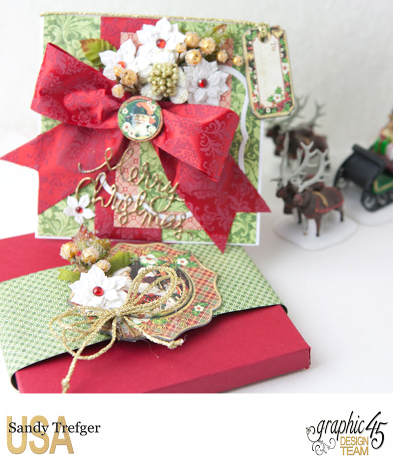 Christmas Card and Box Envelope, St Nicholas, Off  to the Races, Tutorial by Sandy Trefger, Product by Graphic 45, Photo 004