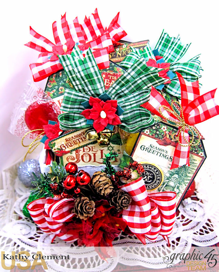 All I Want for Christmas Lollipop Basket, Saint Nicholas, by Kathy Clement, Product by Graphic 45, Photo 1