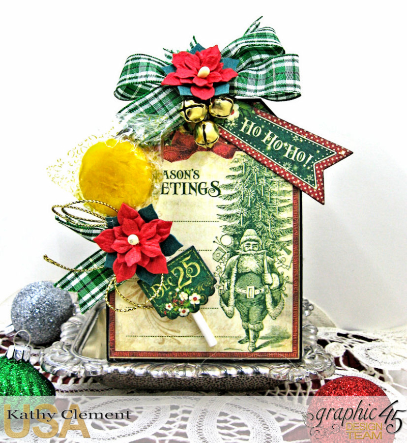 All I Want for Christmas Lollipop Basket, Saint Nicholas, by Kathy Clement, Product by Graphic 45, Photo 9