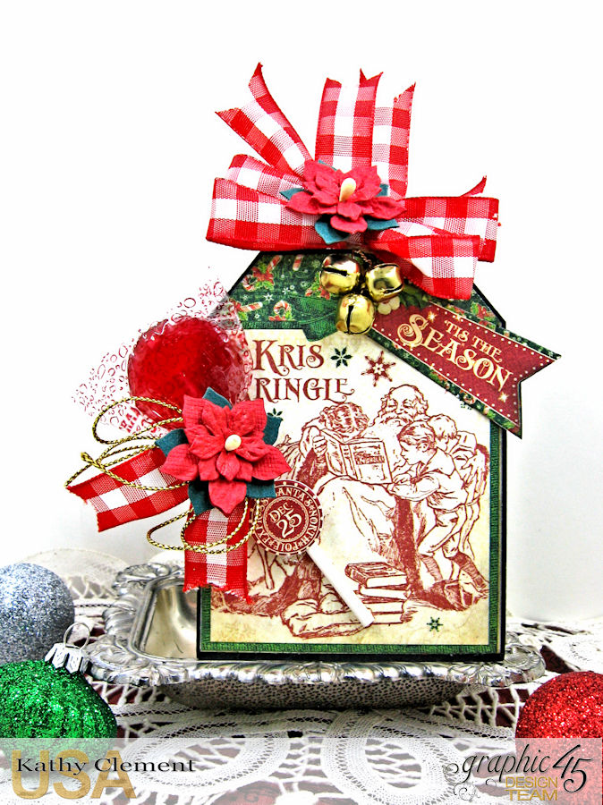 All I Want for Christmas Lollipop Basket, Saint Nicholas, by Kathy Clement, Product by Graphic 45, Photo 10