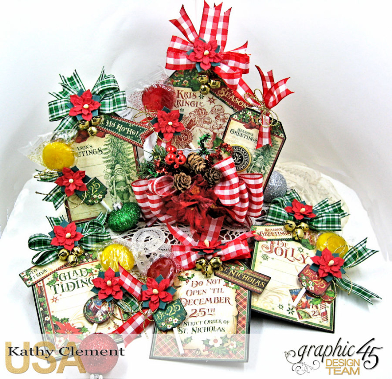 All I Want for Christmas Lollipop Basket, Saint Nicholas, by Kathy Clement, Product by Graphic 45, Photo 5