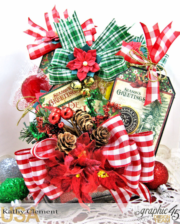 All I Want for Christmas Lollipop Basket, Saint Nicholas, by Kathy Clement, Product by Graphic 45, Photo 8