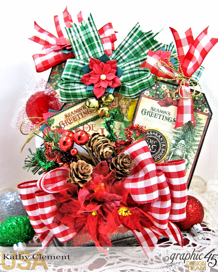 All I Want for Christmas Lollipop Basket, Saint Nicholas, by Kathy Clement, Product by Graphic 45, Photo 2