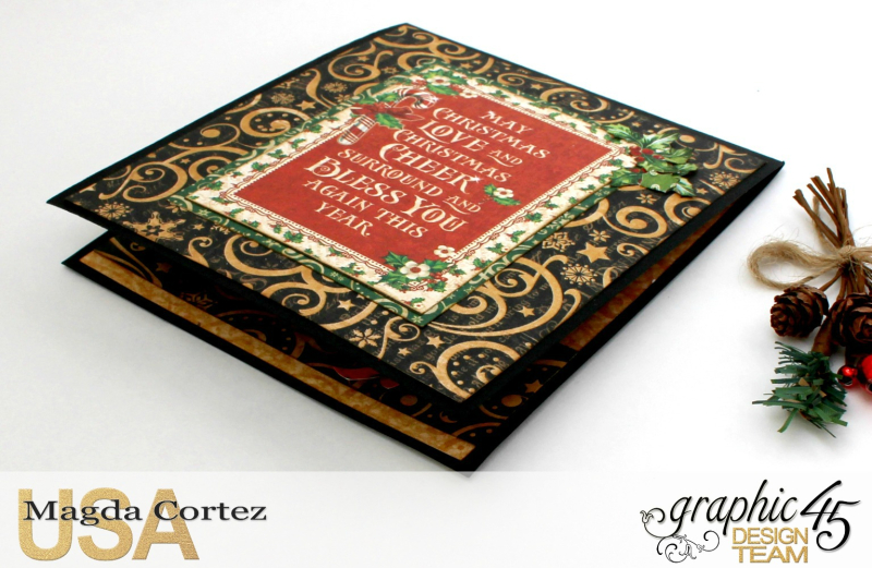 Christmas Pop Up Card-By Magda Cortez-Product by Graphic 45 - Project with tutorial -09 of 10