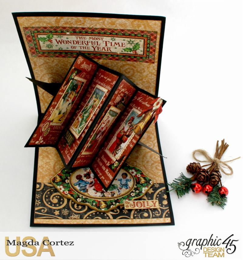 Christmas Pop Up Card-By Magda Cortez-Product by Graphic 45 - Project with tutorial -08 of 10