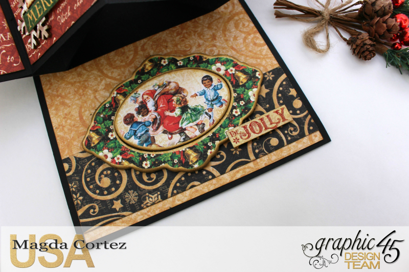 Christmas Pop Up Card-By Magda Cortez-Product by Graphic 45 - Project with tutorial -07 of 10