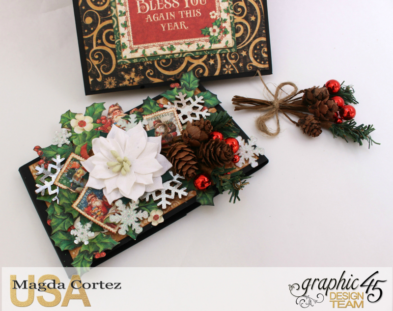 Christmas Pop Up Card-By Magda Cortez-Product by Graphic 45 - Project with tutorial -03 of 10