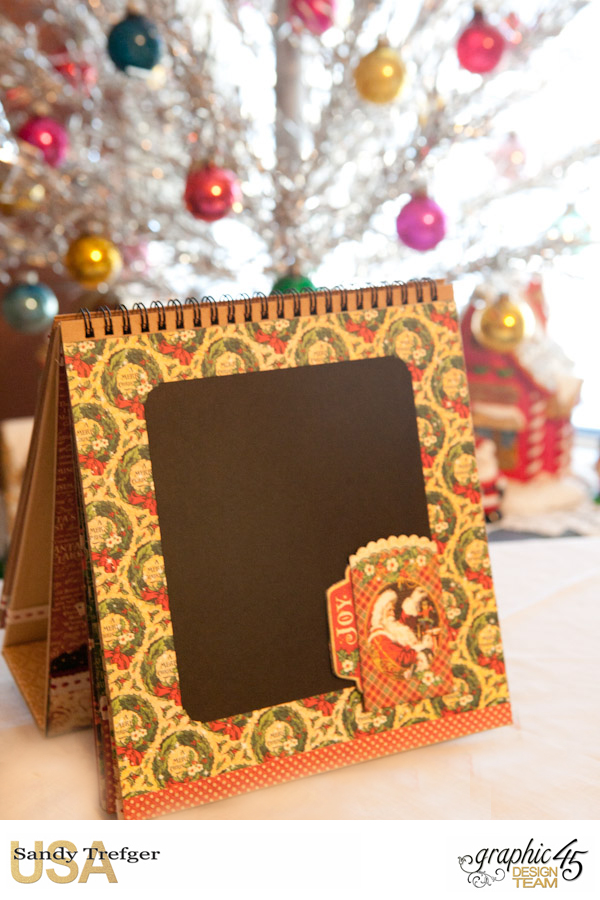 St Nicholas Easel Album, St Nicholas, by Sandy Trefger, Product by Graphic 45, Photo 005