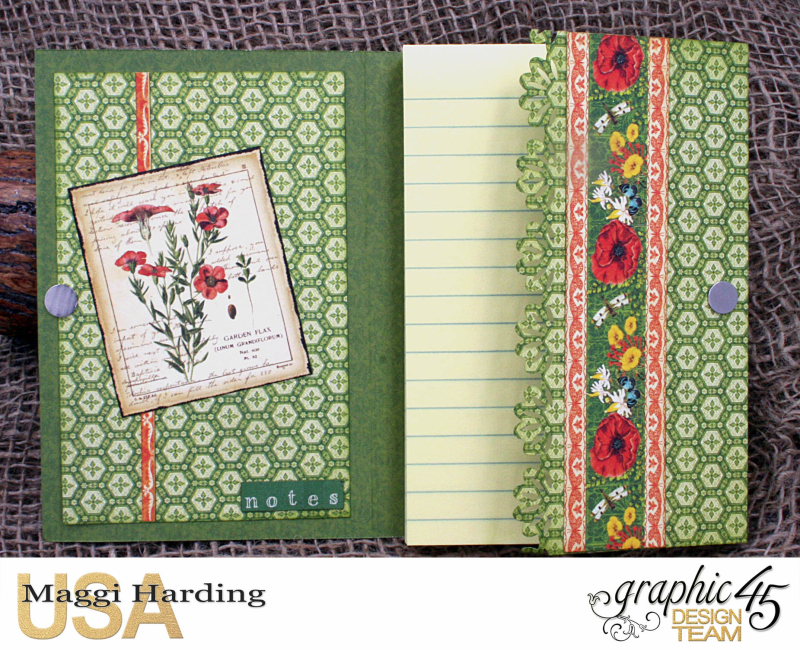 Post-it Notepad, Nature Sketchbook, Tutorial Maggi Harding, Graphic 45  (10)