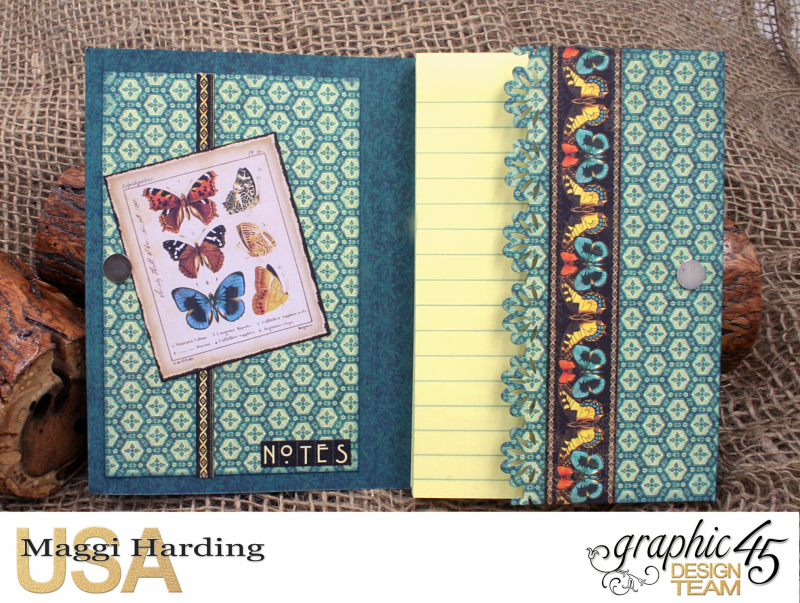 Post-it Notepad, Nature Sketchbook, Tutorial Maggi Harding, Graphic 45  (06)
