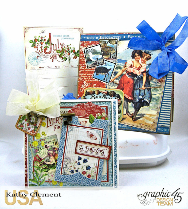 Birthdays, Holdiays and Special Days 2017 Card Planner, Place in Time, Time to Flourish, Time to Celebrate, by Kathy Clement, Product by Graphic 45, Photo 7
