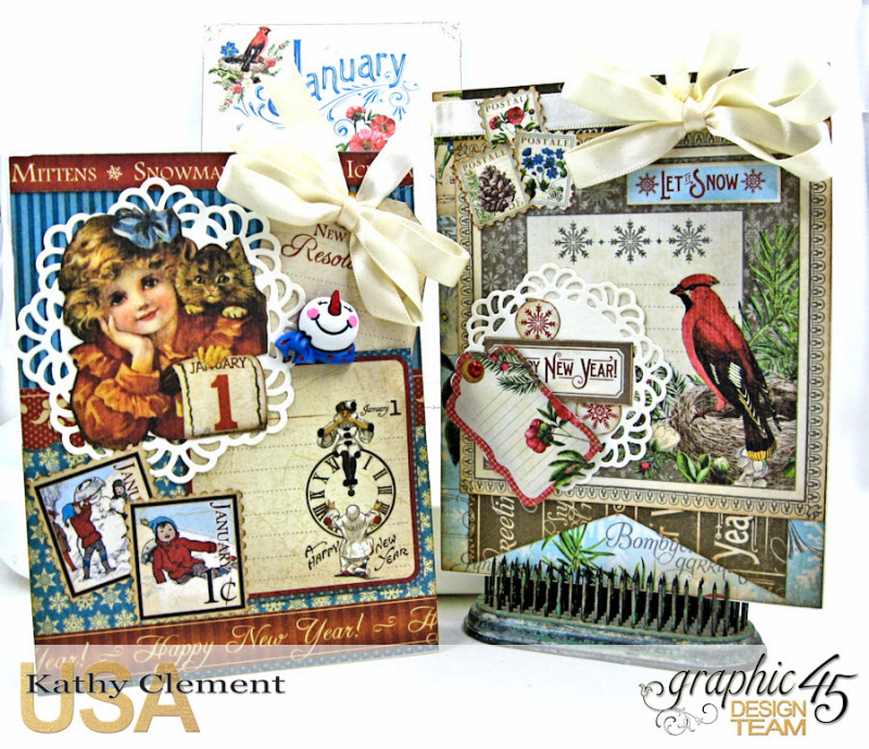 Birthdays, Holdiays and Special Days 2017 Card Planner, Place in Time, Time to Flourish, Time to Celebrate, by Kathy Clement, Product by Graphic 45, Photo 1