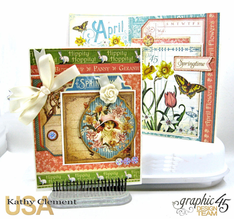 Birthdays, Holdiays and Special Days 2017 Card Planner, Place in Time, Time to Flourish, Time to Celebrate, by Kathy Clement, Product by Graphic 45, Photo 4