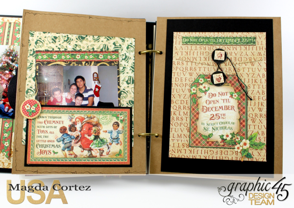 Past Christmas Mini Album, St. Nicholas, By Magda Cortez, Product By Graphic 45, Photo 09 of 14, Project with Tutorial