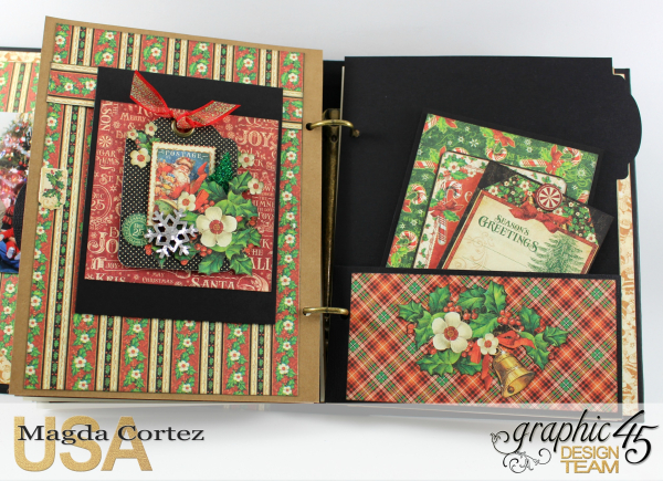 Past Christmas Mini Album, St. Nicholas, By Magda Cortez, Product By Graphic 45, Photo 11 of 14, Project with Tutorial