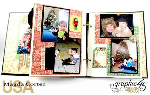 Past Christmas Mini Album, St. Nicholas, By Magda Cortez, Product By Graphic 45, Photo 13 of 14, Project with Tutorial