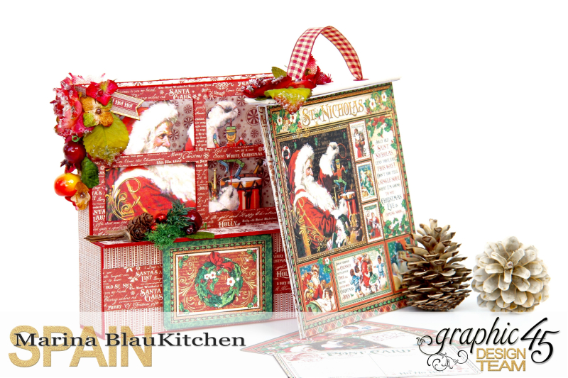 Card and Letters Holder St Nicholas Tutorial by Marina Blaukitchen Product by Graphic 45 photo 6