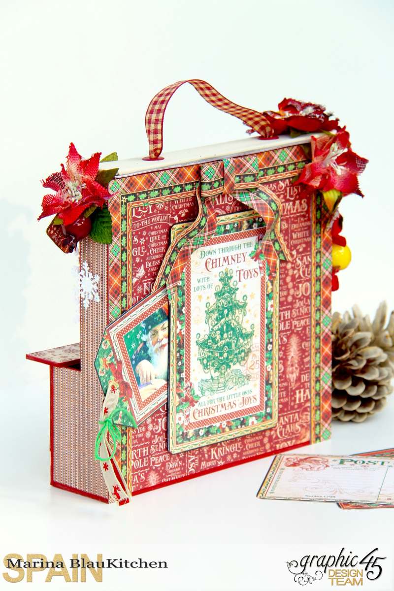Card and Letters Holder St Nicholas Tutorial by Marina Blaukitchen Product by Graphic 45 photo 9