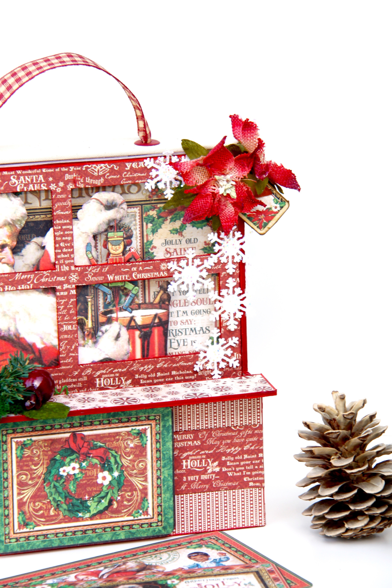 Card and Letters Holder St Nicholas Tutorial by Marina Blaukitchen Product by Graphic 45 photo 3